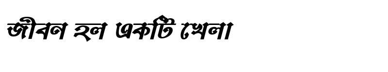 Preview of BongshaiMJ Bold Italic