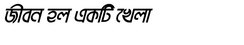 Preview of BrahmaputraMJ Bold Italic
