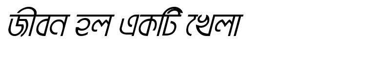 Preview of BrahmaputraMJ Italic