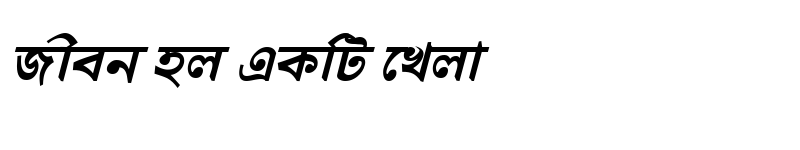 Preview of DhanshirhiMJ Bold Italic