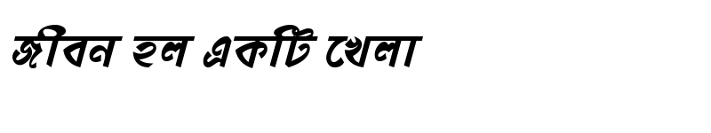 Preview of DhonooMJ Bold Italic