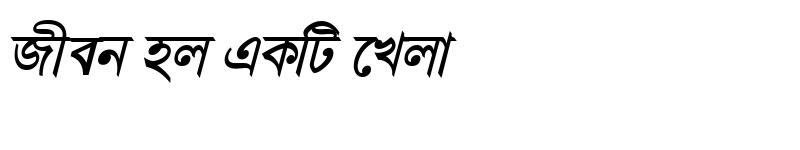 Preview of GangaSagarMJ Bold Italic