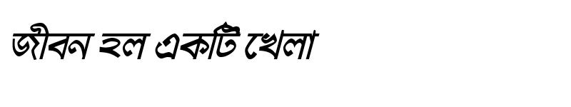 Preview of HaldaMJ Bold Italic