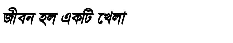 Preview of JugantorMJ Bold Italic