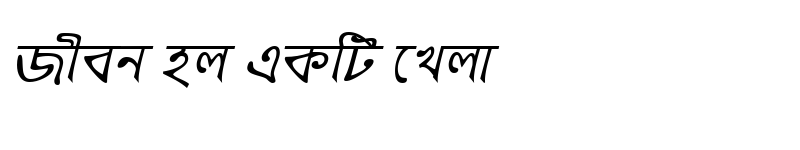 Preview of KalegongaMJ Italic