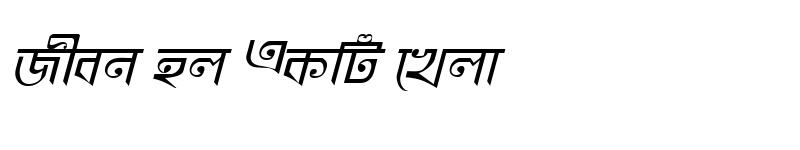 Preview of KhooaiMatraMJ Italic