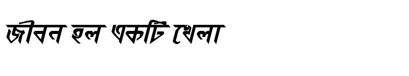Preview of KorotoaMJ Bold Italic