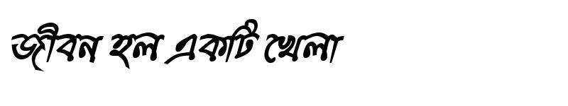 Preview of KumarkhaliMJ Bold Italic