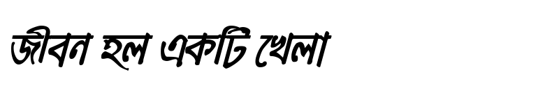 Preview of MeghnaMJ Bold Italic