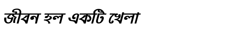 Preview of NobogongaMJ Bold Italic