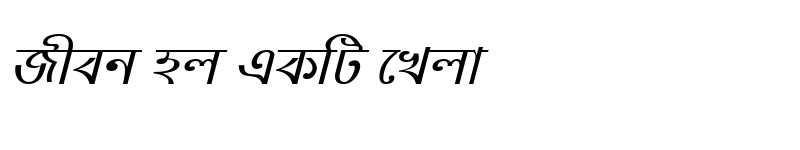 Preview of NobogongaMJ Italic