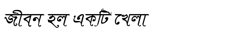 Preview of TonnySushreeMJ Italic